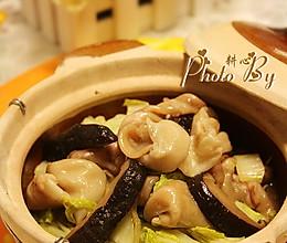 白菜香菇焖鱼鳔的做法