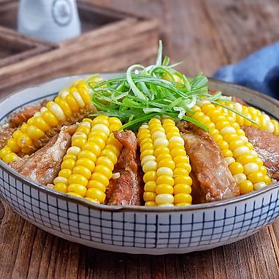 玉米糯米蒸排骨