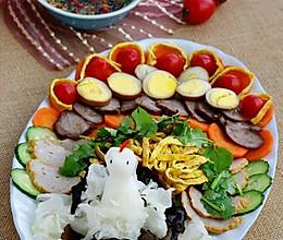 传统滇味筵席必备的冷盘:孔雀开屏版滇味什锦大拼盘的做法