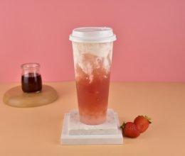 商用水果茶 莓莓雪露 草莓布丁 水果茶的做法