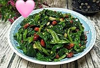 凉拌菠菜花生米的做法