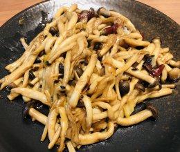 素炒茶树菇的做法
