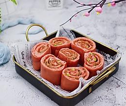 #春天肉菜这样吃#蒜香粉嫩肉龙花卷的做法