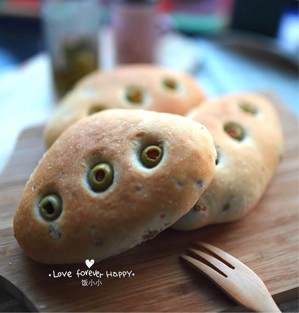 健康橄榄全麦素面包的做法