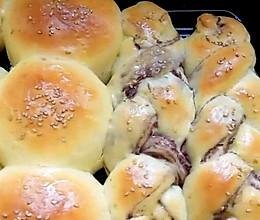 豆沙小面包(无黄油版、普通高筋面粉)的做法