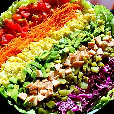 雨过天晴的彩虹沙拉