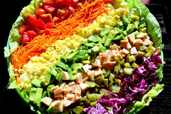 雨过天晴的彩虹沙拉的做法