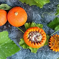 #轻食系王者#红豆糯米南瓜盅的做法图解10