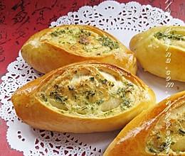 西洋香菜鲜奶面包的做法