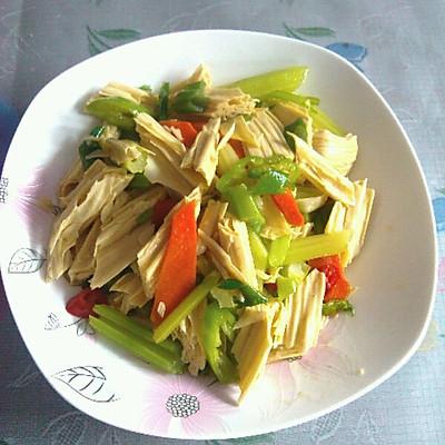 芹菜腐竹小炒