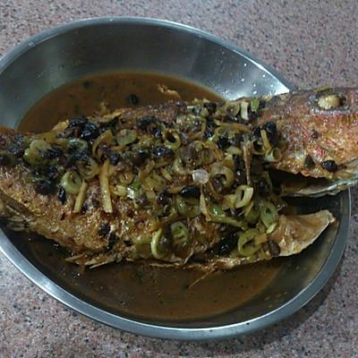姜葱豆鼓煎鱼