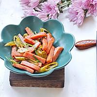 #今天吃什么#午餐肉炒腌辣椒的做法图解10