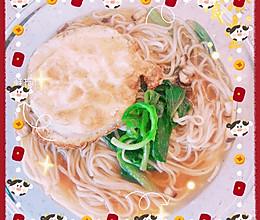 香菇菠菜面的做法