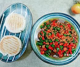 几分钟搞定好吃到爆的自制网红辣椒肉末儿夹馍的做法