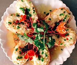 蒜蓉粉丝开边虾的做法