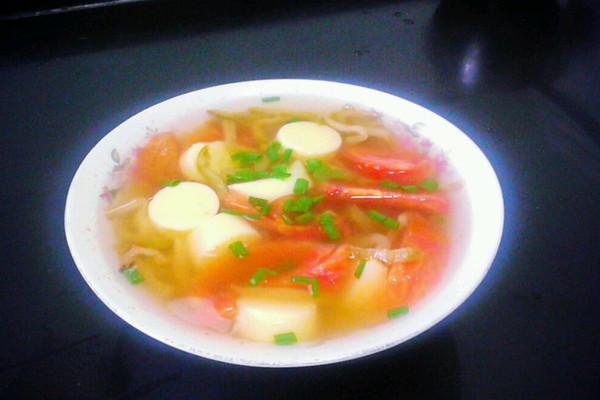 豆腐番茄汤的做法