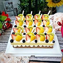 甜蜜的年味:幸福快乐水果蛋糕~