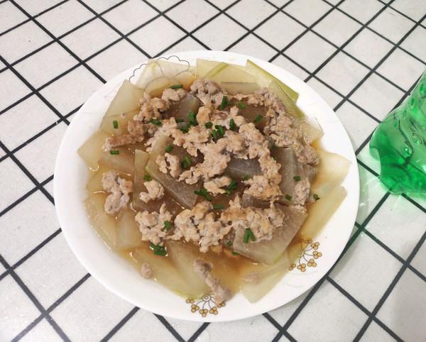 减脂餐之肉沫蒸冬瓜的做法