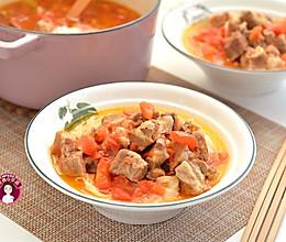 #快手又营养,我的冬日必备菜# 西红柿牛腩汤面的做法