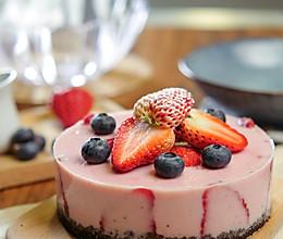 草莓酸奶慕斯蛋糕,无需烤箱!酸甜低脂又健康!的做法