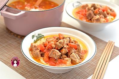 西红柿牛腩汤面
