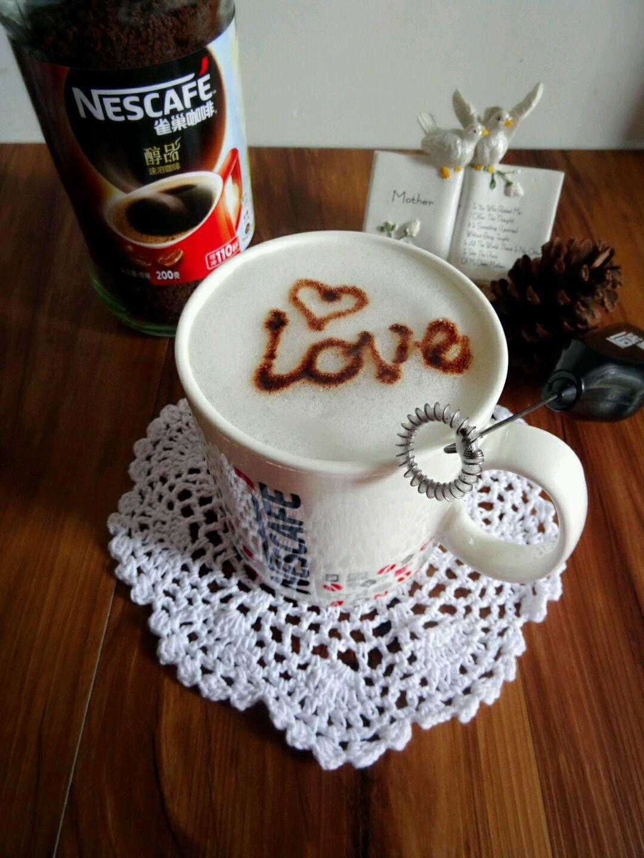 #变身咖啡大师之英文字母图案卡布奇诺咖啡