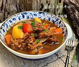 珐琅锅番茄土豆炖牛腩的做法