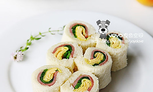 鸡蛋蔬菜肉卷三文治的做法