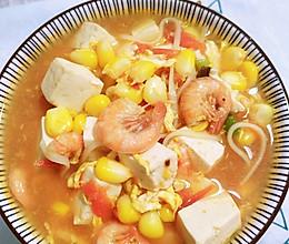超美味的番茄玉米鲜虾面的做法