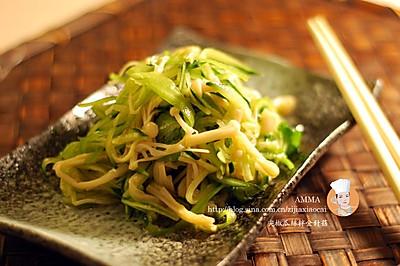 尖椒瓜丝金针菇