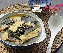 海带油豆腐炖肉的做法
