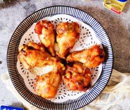 """#2021创意料理组——创意""""食""""光#蒜香黄油烤鸡翅根的做法"""