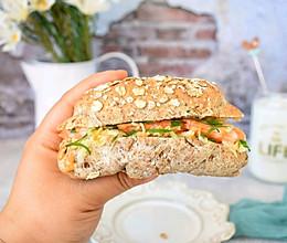 #好吃不上火#全麦减脂三明治的做法