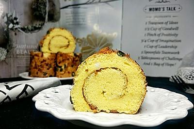 海盐香葱肉松蛋糕卷