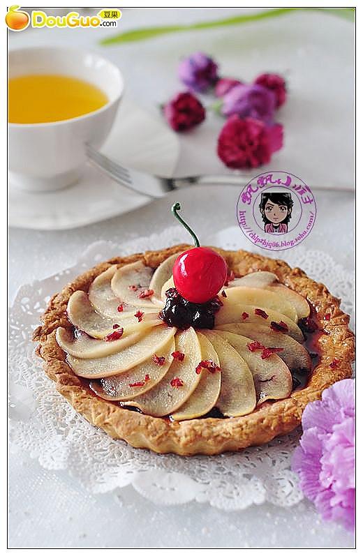 焦糖苹果蓝莓塔的做法