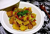 蒜薹辣椒炒米豆腐的做法
