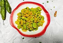葱香金沙蚕豆的做法