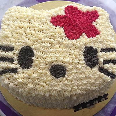 奶油霜hello Kitty生日蛋糕