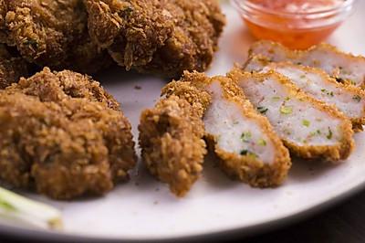 泰式炸虾饼,皮脆肉弹香味足