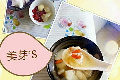 秋梨枸杞百合汤