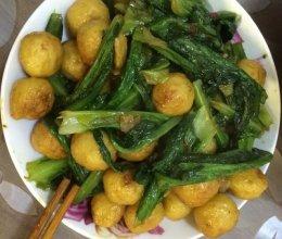 鱼丸油麦菜的做法