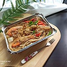 锡纸盒-海鲜粉丝煲