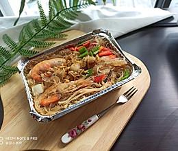 锡纸盒-海鲜粉丝煲的做法