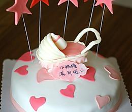 婴儿车翻糖蛋糕的做法