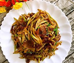 竹笋炒腊肉的做法
