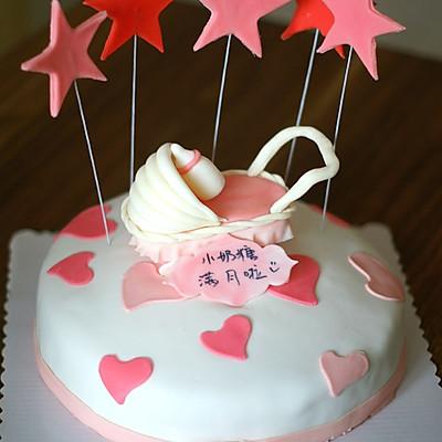 婴儿车翻糖蛋糕
