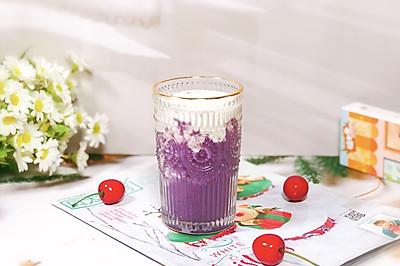 紫薯芋泥鲜奶,好喝不怕胖