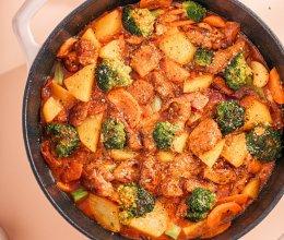 减脂期的神仙料理~意式鸡胸肉蔬菜锅的做法