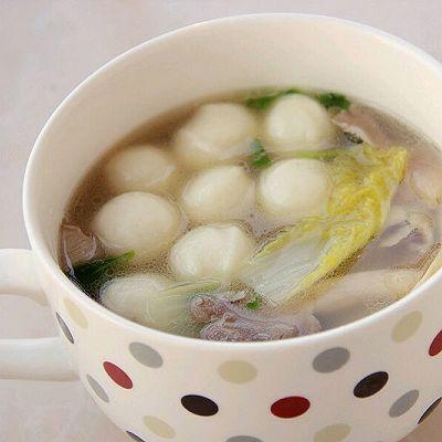 五分钟快汤 蘑菇鱼丸汤---美亚粉尚靓瘦好锅试用