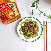 #多力金牌大厨带回家#金牌豉汁凉瓜炒牛肉的做法图解8